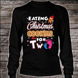 Gildan Tops - Eating Christmas Cookies for Two Tee